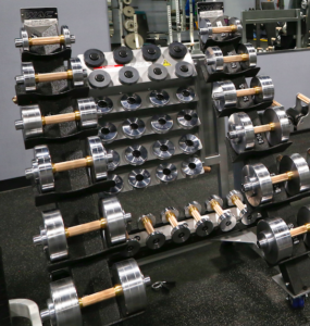 Adjustable Dumbbells with Antimcrobial Copper Handles